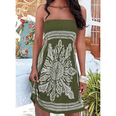 Print Sleeveless A-line Above Knee Casual/Boho/Vacation Dresses