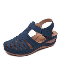 Жіночі ПУ Танкетка Сандалі з Липучка взуття