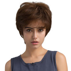 Tout droit Mélange de cheveux humains Perruques pour cheveux humains