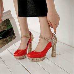 Femmes Pailletes scintillantes Talon bottier Escarpins Plateforme avec Paillette Semelle chaussures