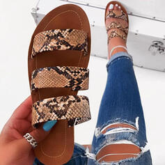 Women's PVC Flat Heel Slippers shoes