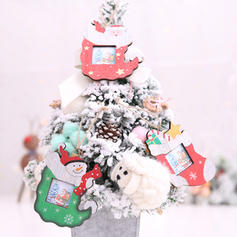 Merry Christmas Snowman Santa Hanging Wooden Christmas Pendant Christmas Décor