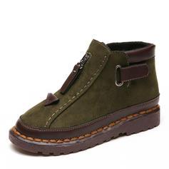 Női PU Lapos sarok Lakások Zárt lábujj Csizma -Val Csat cipő