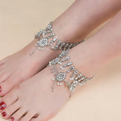 Rhinestone Alloy Foot Jewellery (Sold in a single piece)