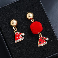 Unique Shining Alloy With Rhinestone Earrings Christmas Jewelry