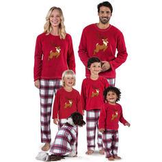 Renne Plaid Inmprimé Tenue Familiale Assortie Pyjama De Noël