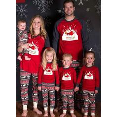 Télapó Rénszarvas Levél Családi Karácsonyi pizsamák
