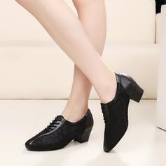 Femmes Similicuir Dentelle Talons Pratique Chaussures de danse