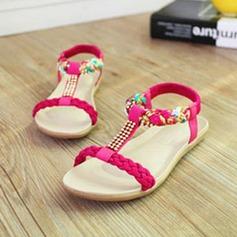 Frauen Kunstleder Stoff Keil Absatz Sandalen Peep Toe Slingpumps mit Strass Satin Schleife Kette Geflochtenes Band Zweiteiliger Stoff Schuhe