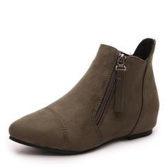 Naisten Mokkanahka Matala heel Kengät Nilkkurit jossa Vetoketju kengät