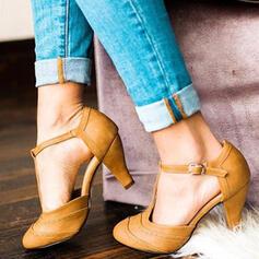 Femmes PU Talon cône Escarpins Bout carré avec Ouvertes chaussures