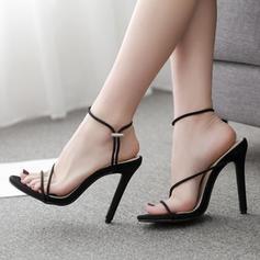 De mujer PU Tacón stilettos Sandalias Salón Encaje con Cordón zapatos