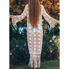 Solid Color Long Sleeve Sexy Cover-ups Swimsuits
