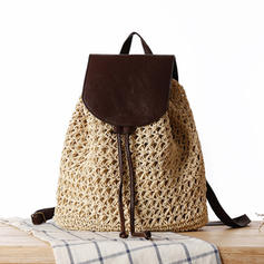 Braided Paper Rope Backpacks/Beach Bags/Bucket Bags