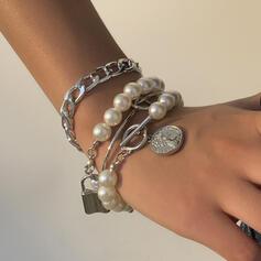 À la mode Sexy Ancien Style Classique Alliage De faux pearl avec Perle d'imitation Femmes Dames Bracelets 4 PIÈCES
