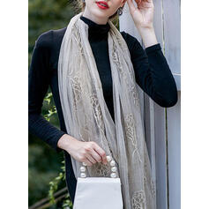 Floral/Solid Color Light Weight/simple Scarf