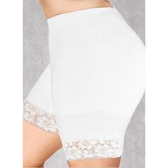 Pevný Krajka Nad kolenem Neformální Plus velikost Žakard Kalhoty Šortky Legíny