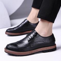 Men's Microfiber Leather U-Tip Casual Men's Oxfords