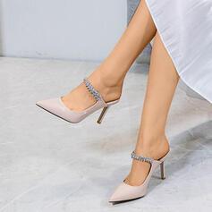 Dla kobiet Skóra ekologiczna Obcas Stiletto Sandały Czólenka Z Stras/ Krysztal Górski obuwie