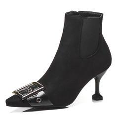 Dla kobiet Skóra ekologiczna Obcas Stiletto Kozaki Z Klamra obuwie