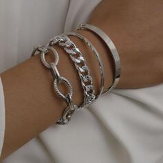 Stylish Charming Alloy Bracelets (Set of 4 pairs)