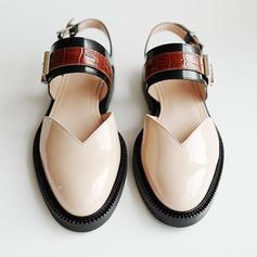 Kvinder PU Flad Hæl Fladsko med Spænde sko