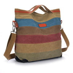Fashionable/Splice Color Canvas Tote Bags/Shoulder Bags/Hobo Bags