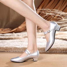 Women's Character Shoes Heels Real Leather Ballroom