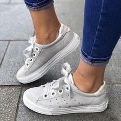 Kvinder PU Flad Hæl Fladsko med Blondér sko