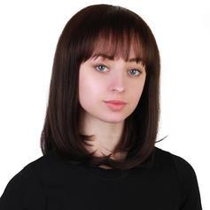 Kinky Rovný Mix pravých vlasů Paruky z pravých vlasů 140g