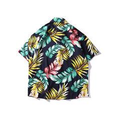 Pour des hommes Feuilles hawaïen Chemises de plage
