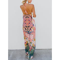Print/Floral Sleeveless Shift Sexy/Casual/Boho/Vacation Maxi Dresses