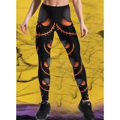 Impresión Talla extra Víspera de Todos los Santos Largo Casual Deportivo Yoga Pantalones Polainas