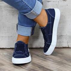Donna Tessuto Casuale con Fascia di gomma scarpe