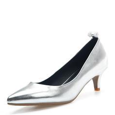 Dla kobiet Skóra Lakierowana Niski Obcas Czólenka Zakryte Palce Z Pozostałe obuwie