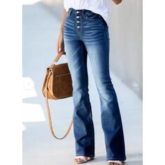 Shirred Tamanho grande Elegante Vintage Jeans