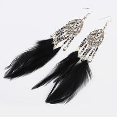 Beautiful Alloy Resin With Feather Ladies' Fashion Earrings