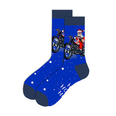 Print/Christmas Santa Breathable/Christmas/Crew Socks/Unisex Socks
