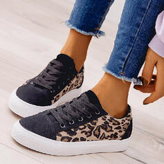Women's Fabric Casual With Lace-up Split Joint shoes