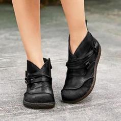 Dla kobiet PU Płaski Obcas Kozaki Z Zamek błyskawiczny obuwie