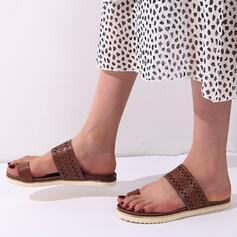 Mulheres Pano Sem salto Sandálias Chinelos com Animal da Cópia sapatos