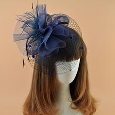 Dames Élégante Batiste avec Feather Chapeaux de type fascinator/Kentucky Derby Des Chapeaux