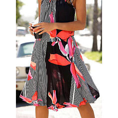 Print/Floral/Striped Sleeveless A-line Knee Length Casual/Vacation Dresses