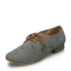 Men's Ballroom Flats Suede With Lace-up Latin