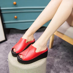 Women's PVC Wedge Heel Wedges Peep Toe Slippers With Others shoes