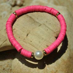 élégant De faux pearl Tissu Bracelets