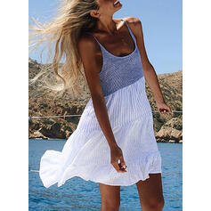 Color Block Sleeveless Shift Above Knee Casual/Vacation Tank Dresses