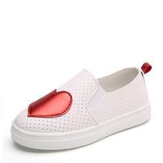 A menina de imitação de couro Heel plana Fechados Loafers & Slip-Ons Sem salto Sneakers & Athletic