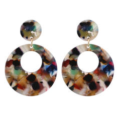 Classic Alloy Acrylic Women's Fashion Earrings (Sold in a single piece)