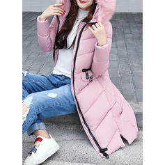 Bavlna Dlouhé rukávy Jednobarevný Dlouhé Kabáty